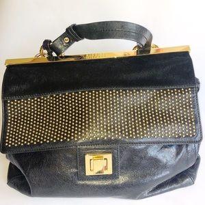 Badgley Mischka Leather & Cowhair Bag
